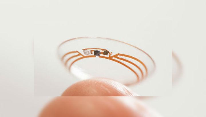 Google-линза будет состоять из тонких плёнок, гибкого микрочипа, датчиков и светодиода