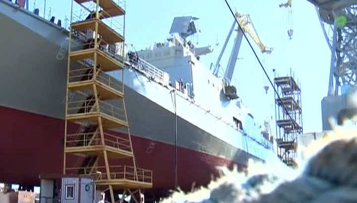 "Фрегат ""Адмирал Григорович"" спущен на воду в Калининграде"