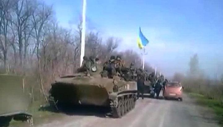 Жители Краматорска захватили 6 БТР армии Украины