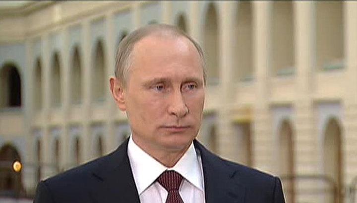 Владимир Путин: Россия не может в одиночку кормить 45-миллионную Украину