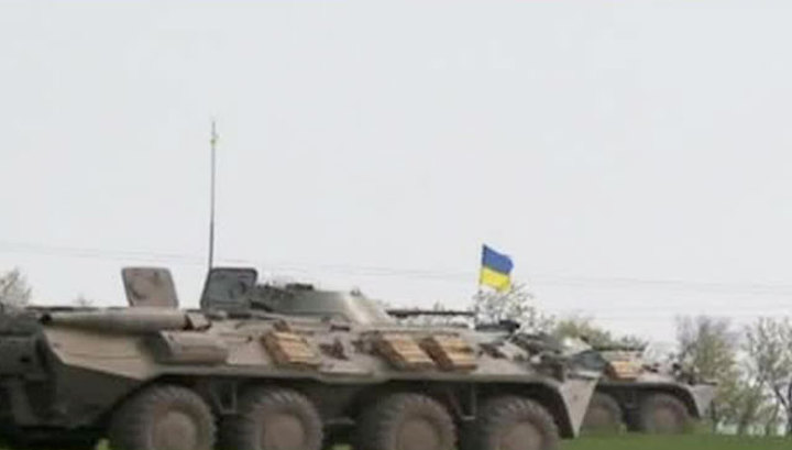 Славянск: спецназ, БТРы и вертолеты против самообороны города