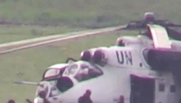 Украинские силовики используют вертолеты с символикой ООН