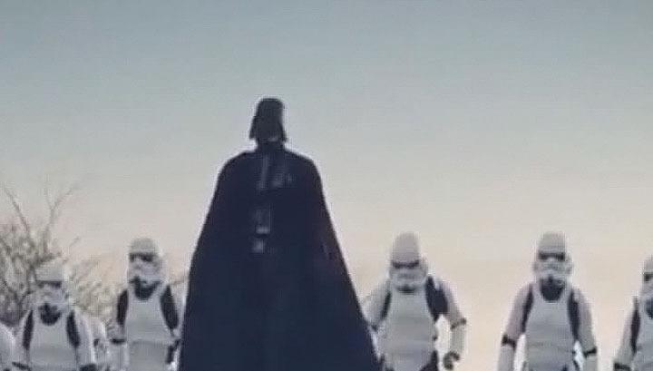 Одессу наводнили имперские штурмовики Дарта Вейдера. Видео