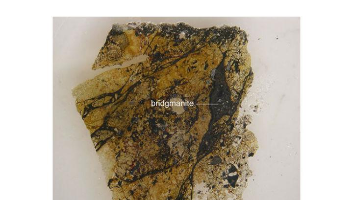 Прожилки бриджманита в составе австралийского метеорита