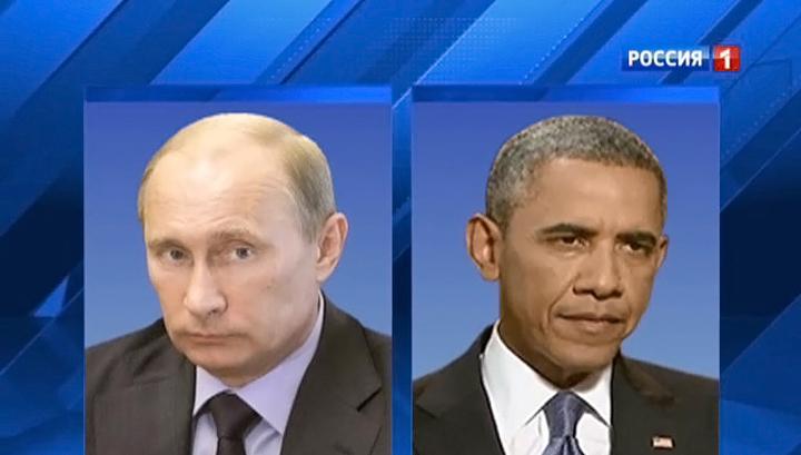 Путин и Обама полчаса беседовали за закрытыми дверями