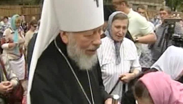 Порошенко простился с митрополитом Владимиром