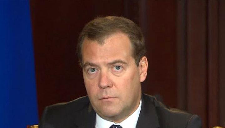 Медведев снизил газовую пошлину для Украины