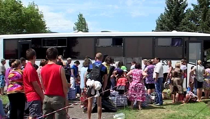 Лагеря беженцев под Ростовом переместили из-за угрозы обстрела