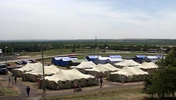 В пунктах временного размещения в РФ скопилось свыше 24 тысяч беженцев с Украины