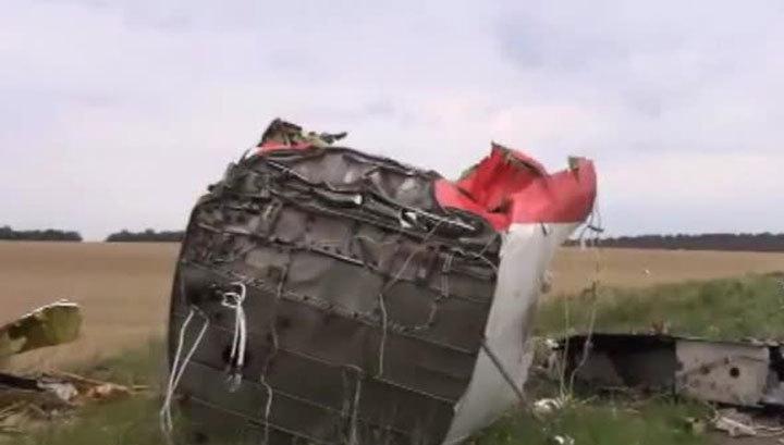 """Обломки """"Боинга"""", упавшего на Украине, разбросало на 15 километров"""