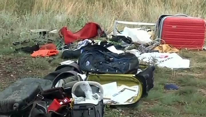 Украинские спасатели начали собирать останки погибших при крушении Boeing-777