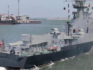 Артиллерийские корабли и катера Каспийского флота имитировали реальное сражение