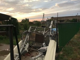 Ураган свалил вышку сотового оператора в Соль-Илецке