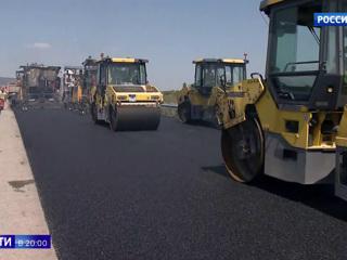 """Строят всей Россией: крымская трасса """"Таврида"""" почти готова. Вести в 20:00"""
