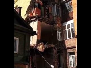 Появилось видео с места обрушения стены жилого дома в Самаре
