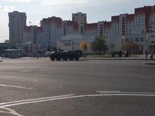 Резиденцию Лукашенко взяли под охрану бронемашины