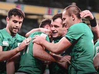 Регбисты сборной Ирландии вышли в лидеры Кубка шести наций после разгрома Италии