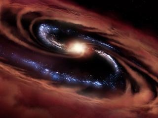 Вопреки смерти: рядом с чёрной дырой-убийцей рождаются звёзды