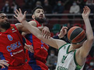 Баскетболисты ЦСКА победили Жальгирис в Евролиге