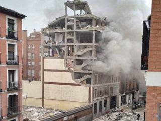 Мощный взрыв прогремел в здании в центре Мадрида