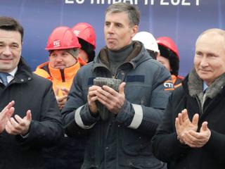 Путин и Воробьев открыли транспортную развязку в Химках
