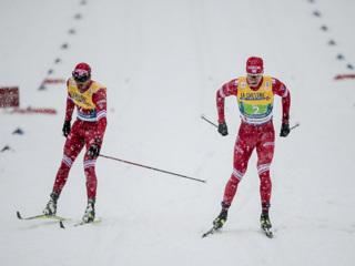 Российские лыжники стали вторыми в эстафете