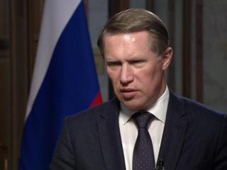 Интервью на России 24. Мурашко: самый важный акцент в Послании президента  вакцинация