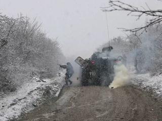 В горах Крыма провели учения мотострелки Черноморского флота