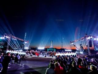 На Байконуре состоялся праздничный концерт Юбилей полета человека в космос