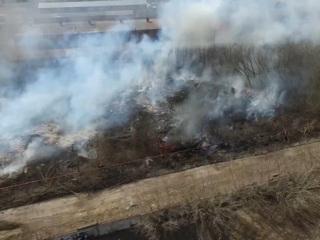 Вести. Дымит повсюду: в Тамбовской области горит трава