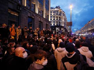 МВД: в незаконной акции в Москве участвуют около 6 тысяч человек