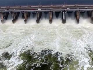 Вести. Волжская ГЭС выходит на максимальный уровень сброса воды