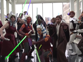 Видео из Сети. 4 мая  День Звездных войн