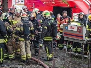 Два человека задержаны после пожара в московском отеле