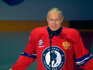 Новости на России 24. Путин вышел на лед в матче Ночной хоккейной лиги в Сочи