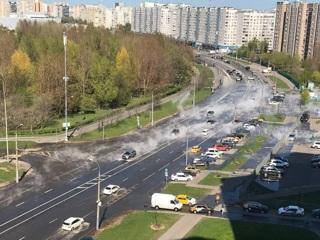 Московскую улицу залило кипятком