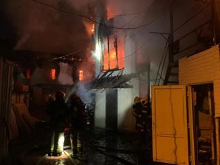 В Саларьево сгорел жилой дом