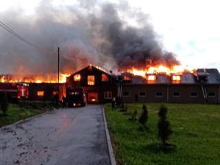 Под Нижним Новгородом тушат крупный пожар на конюшне