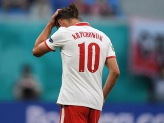 Польша  Словакия. Игрок Локомотива Крыховяк получил красную карточку