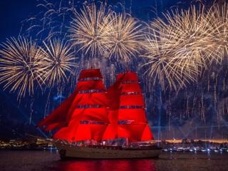 В Петербурге начался грандиозный праздник выпускников Алые паруса