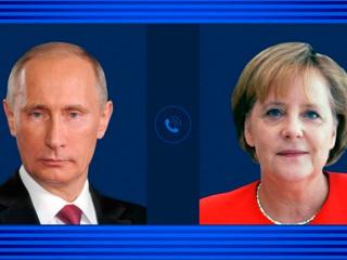 Путин и Меркель поговорили о Северном потоке-2