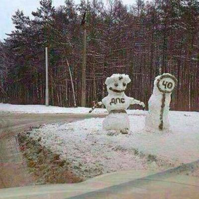 Розыгрыш со снеговиком на путях, который придумали жители Германии, нанес ущерб в 5 тысяч евро