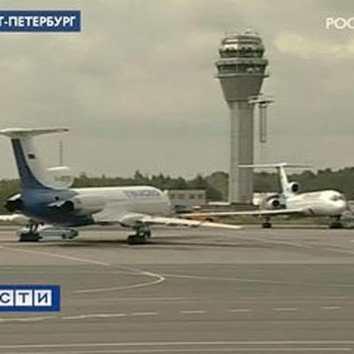 Посадка самолёта в петербурге