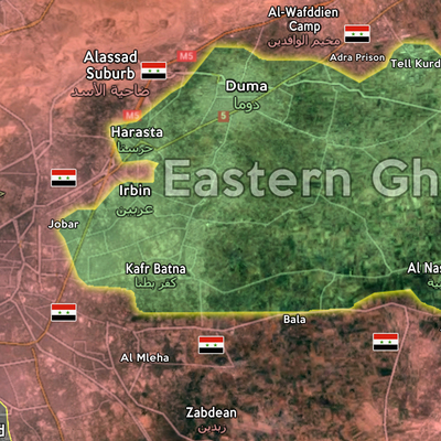 Более 700 мирных жителей покинули Восточную Гуту утром 24 марта через Вафедин