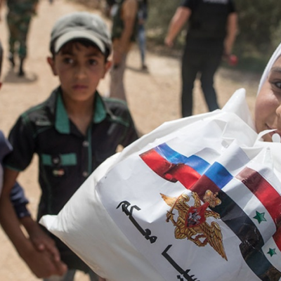 Российские военные доставили 3.5 тонны гуманитарной помощи в Сирию