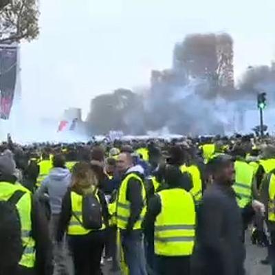 Полиция и жандармерия задержали в Париже 43 человека из участников митинга