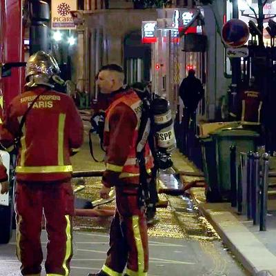 Пожарные Бордо почти сутки тушат подземный паркинг в в квартале Сен-Мишель