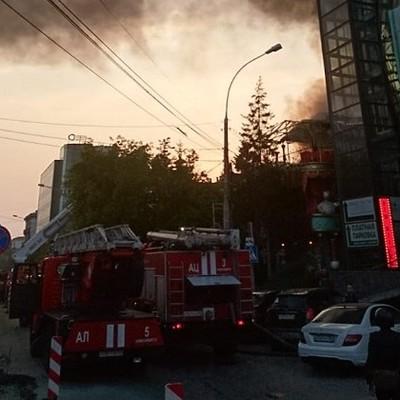В центре Новосибирска горит ресторан