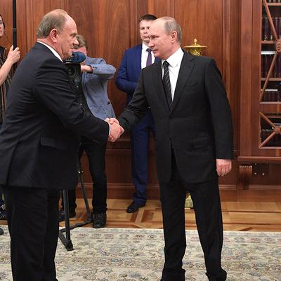 Владимир Путин встретился с лидером КПРФ Геннадием Зюгановым