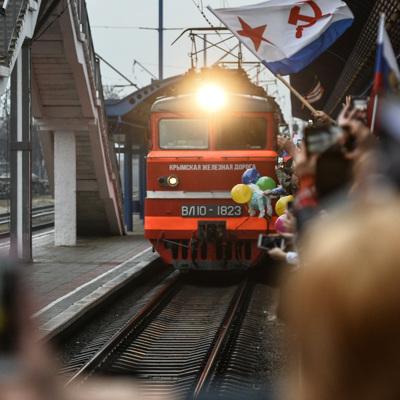 Спецпоезд с украинцами, вывезенными из России, прибыл в Киев